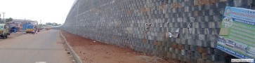 Reinforced Soil Retaining Wall(block)/ Trichy  Dindigul Section in NH5 in Tamilnadu for SEW Infrastructure Limited